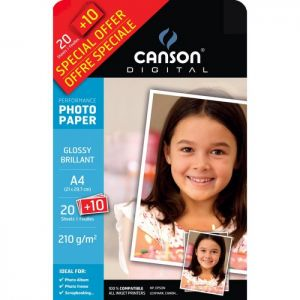 Carta Fotogr.canson A4 210gr.20+10fg 00004325