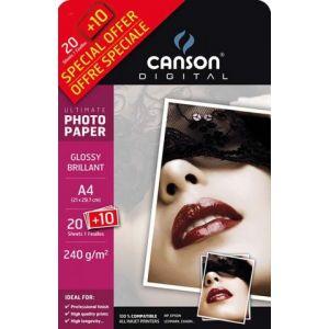 Carta Fotogr.canson A4 240gr.20+10fg 00004328