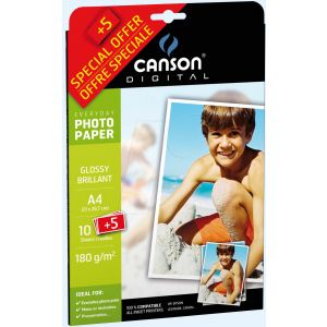 Carta Fotogr.canson A4 180gr.10+5fg 00004475