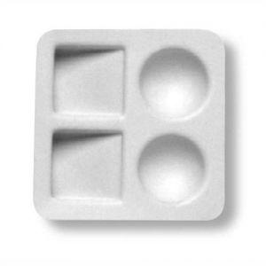 Tavolet. Plast.cwr Quadrata 4 Scomp. 0187