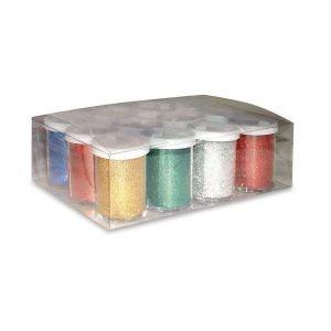 Glitter Gr.22 Set 12 Flaconi Argento 06656