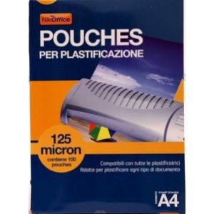 Pouches Per Plastific.a4 Mic 125 13NIK050