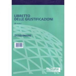 Libretto Giustificazioni 25fg.21x15 1650N
