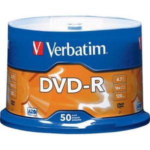 Dvd-r Verbatim 4,7gb 16x 120m Campana 43548