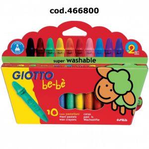 Pastelli Cera Maxi Giotto Bebe` Pz.10 466800
