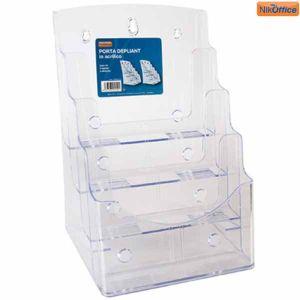 Portadepliant Acril.base A4 4posti 47NIK016/2