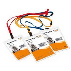 Cartellino Portanome 10x14 Blu C/cord. 632