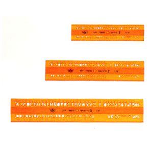 Normografo Mm.6 Dfh Arancio 700DFH