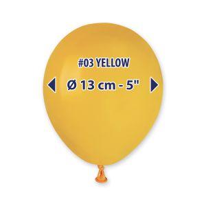 "Palloncino 5"" Pastel.ocra Pz.100 A50-03"