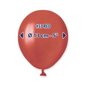 """Palloncino 5"""" Metal Rosso Pz.100 AM50-53"""