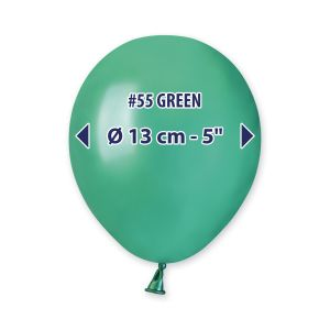 "Palloncino 5"" Metal Verde Pz.100 AM50-55"