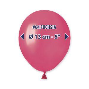 """Palloncino 5"""" Metal Fuxia Pz.100 AM50-64"""