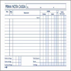Registro Prima Nota Cassa 22x16 BM246/A