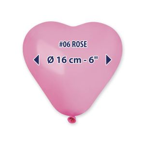 """Palloncino 6"""" Cuore Rosa 100pz CR6-06"""