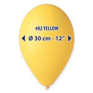 "Palloncino 12"" Pastel.giallo Pz.100 G110-02"