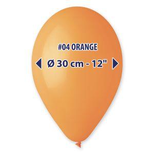 """Palloncino 12"""" Pastel.aranc. Pz.100 G110-04"""