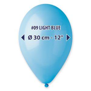 """Palloncino 12"""" Pastel.blu Ch. Pz.100 G110-09"""