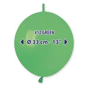 """Palloncino 13"""" Past.verde Pz.100 GL13-12"""