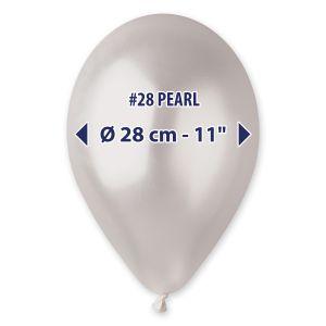 """Palloncino 12"""" Metal Perla Pz.100 GM110-28"""