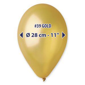 "Palloncino 12"" Metal Gold Pz.100 GM110-39"