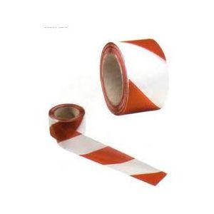 Nastro Plast.bianco/rosso 200mt. 06099